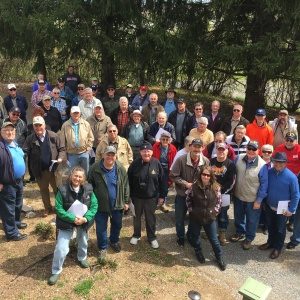 Group Photo at Falling Waters Battlefield with Bob Harsh
